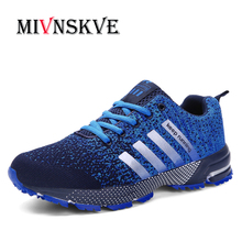 MIVNSKVE 2017 Men Casual Shoes Autumn Summer mesh lovers shoes brand Fly Weave Light Breathable Fashion Comfortable size 35~46