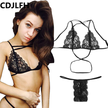 Buy Sexy Lingerie Women Underwear Lace Briefs Panties Transparent Temptation Low-waist Tanga Thongs G String Female Crotchless
