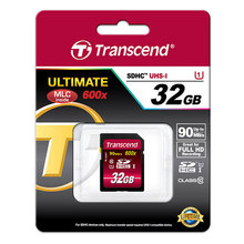 Transcend Memory Card 32GB 90M/S UHS-1 C10 SDHC SD Card Flash Cards Permier Original High Speed 600X For Digital Camera