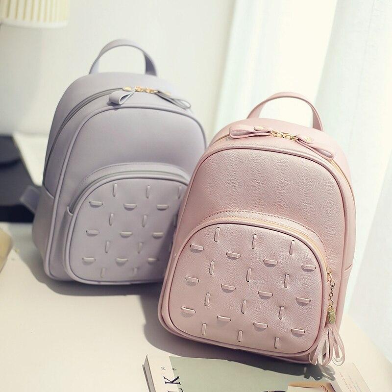 LEFTSIDE Womens PU Leather Backpack Travel Bag  Female  Backpack Vintage Womens Ipad Backpacks Teenage Girls School Bags <br><br>Aliexpress