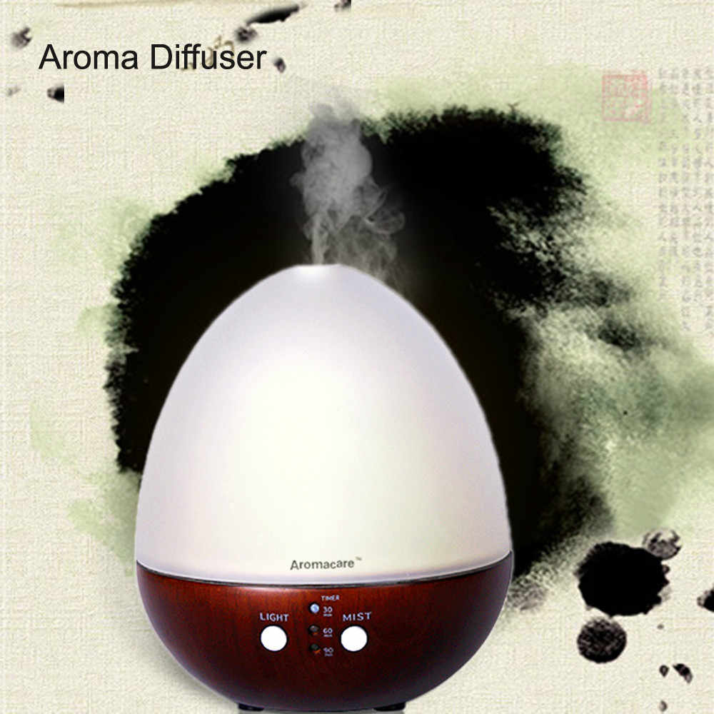 2013 New Wood Ultrasonic Egg-like Cool Mist Essential Oil Ultrasonic Mister Diffuser Mist Machine For Home Humidifier
