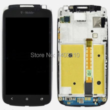 Free shipping OEM Tmobile For HTC One S Front Housing LCD Touch Digitizer Screen + Frame Bezel with tracking number