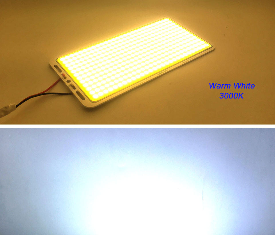 220112MM High Power COB Board LED Lights 200W Warm Pure 12V White LED Bulb COB Chip for DIY Car Lamps Outdoor Camping Lighting (10)
