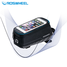 Hot Selling Brand Roswheel Bicycle Front Bag Mountain Bike Accessories Bicycle Pannier Sports Bike Phone MTB Cycling Bag(China)