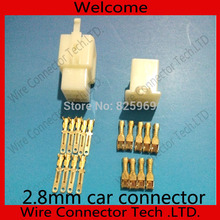 10 sets 2.8mm 9 Way/pin automotive electrical socket connector Male Female plug terminal for Car Motorcycle Motorbike