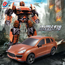 2016 Newest Robort Transformation Remote Control RC Car toys rc robot car truck action figures class for kids as Christmas Gift(China)