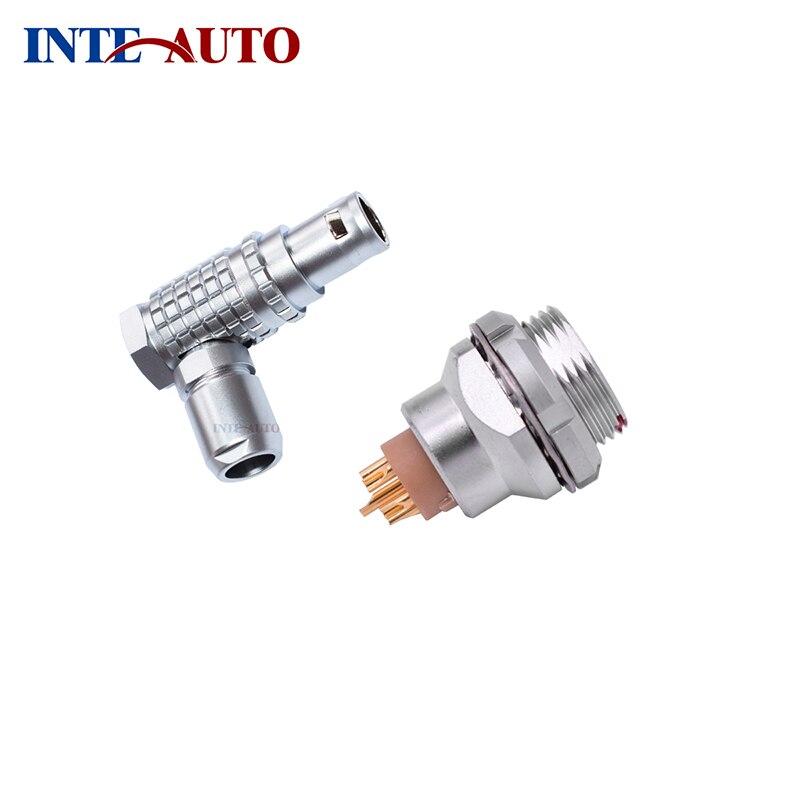 6 pins circular push pull connector,Metal elbow Plug,electrical panel receptacle, Equivalent with LEMOs FHG.0B.306 EEG.0B.306<br>
