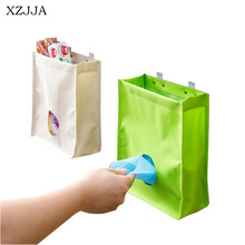 Multi-purpose Oxford Kitchen Cabinet Door Back Garbage Bag Hanging Storage Bag Cupboard Trash Pouch Holder Sundries Organizer