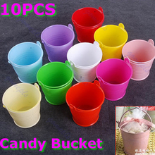 10 x Mini Chocolate Cute Candy Bucket Keg Wedding Party Favors Kisses DIY(China)