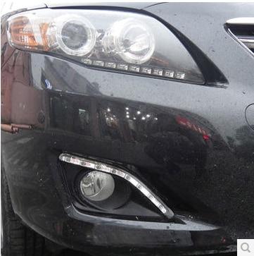 Hireno Super-bright LED Daytime Running Light for Toyota Corolla 2007-10 LED Car DRL fog lamp 2PCS<br><br>Aliexpress