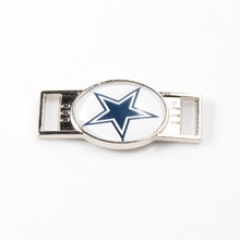 Dallas Cowboys NFL Football Team Logo Oval Shoelace Charms For Sport Shoes And Paracord Bracelets Jewelry Decoration 6pcs