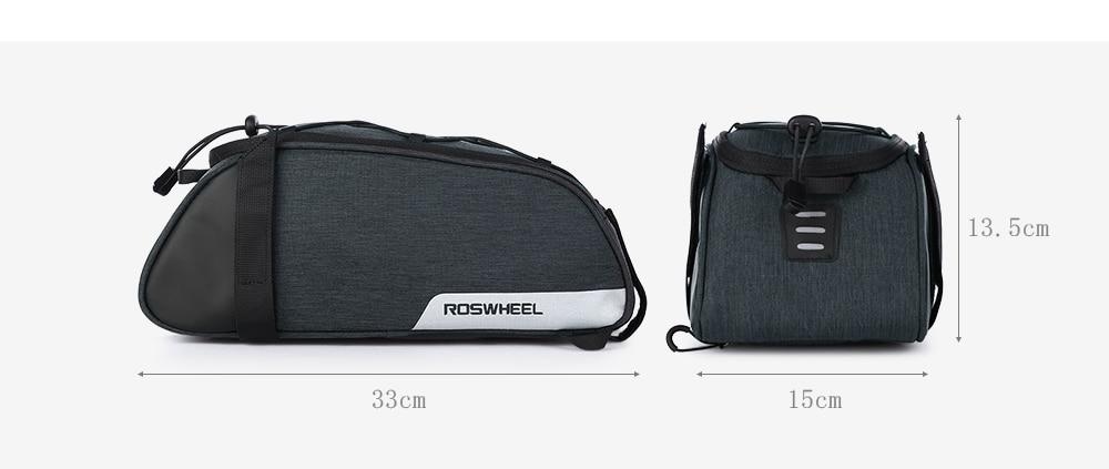 ROSWHEEL 141465 Multifunctional Bike Trunk Bag Commuter Bag