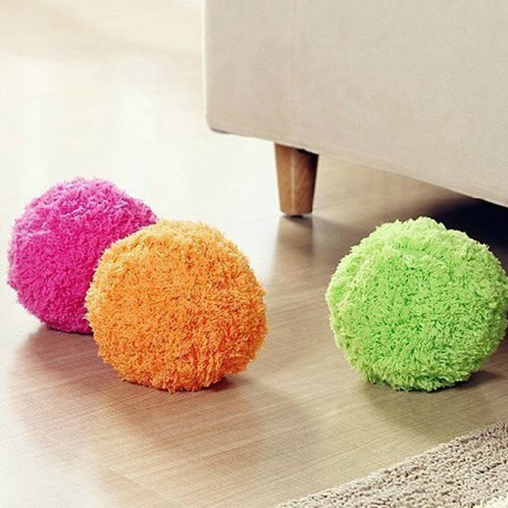 4 Colors Innovative Home Rolling Vacuum Cleaner Ball Pocket Size Automatic Microfiber Floor Cleaner Pet Dogs Funny Toys Balls(China (Mainland))