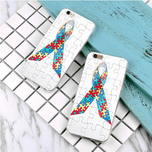 Puzzle Autism Awareness Cover Case For Samsung Galaxy s3 s4 s5 s6 s7 edge for iPhone 4 4s 5 5s 5c 6 6s 7 plus Phone Cases