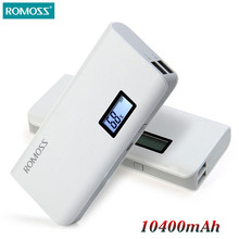 Original ROMOSS Sense 4/4 Plus 10400mAh Mobile Power Bank Supply Station External Battery Pack Charger pover powerbank for Phone