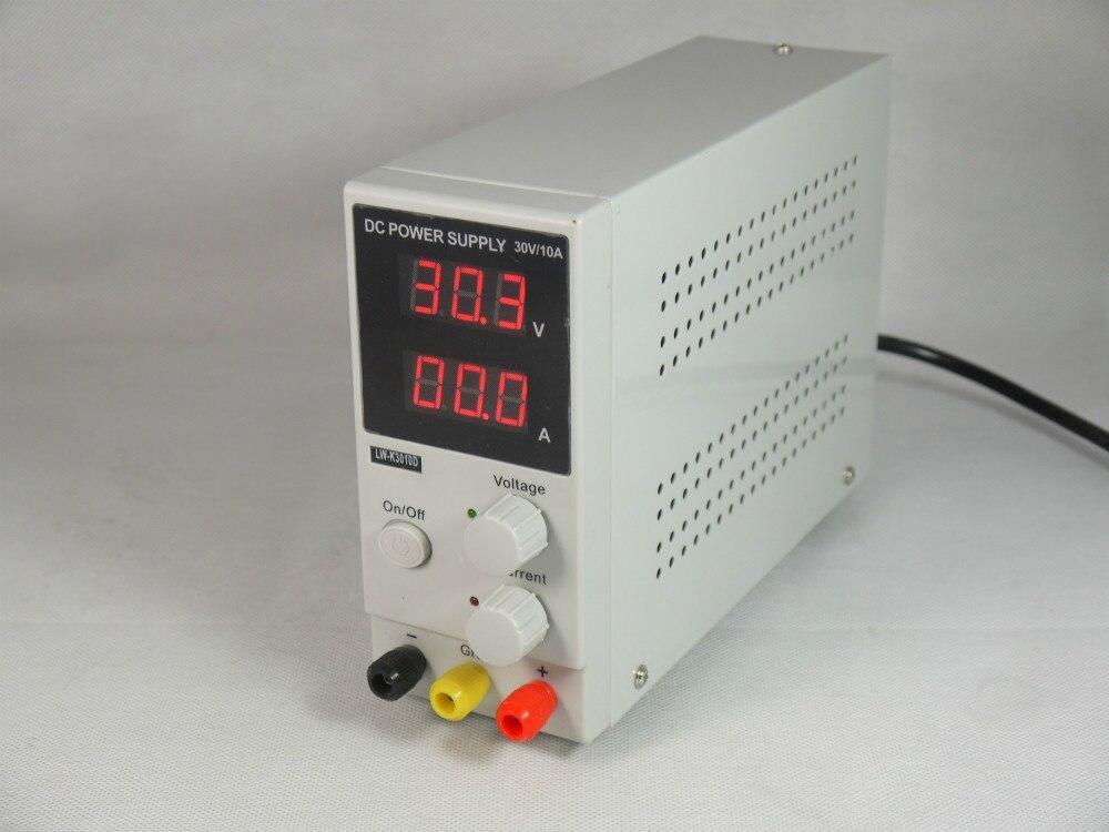 10pcs/lot LW-3010D/LK3010D Mini Switching Regulated Adjustable DC Power Supply SMPS Single Channel 30V 10A US/EU/AU Plug<br>