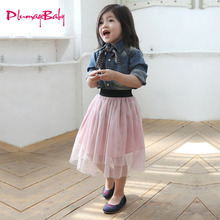 2017 New Hot Summer Baby Girl Tulle Skirt Children Kid Girls Tutu Knee-length Cute Skirt Baby Girls Clothes