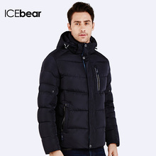 ICEbear 2016 Three Colors New Fashion Casual Coat Windproof  Breathable Warm Winter Cotton Padded Short  Jacket Men 16MD660