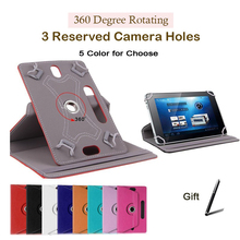 For ASUS Eee Pad Transformer TF101 10.1 inch 360 Degree Rotating Universal Tablet PU Leather cover case Free Pen