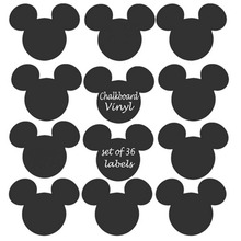 Mickey Mouse Chalkboard Vinyl Labels Jar Cup Decor Chalkboard Label Wall Stickers Kids' Favorite Pattern