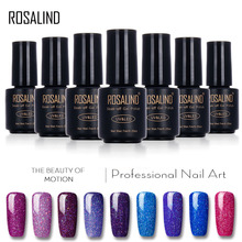 ROSALIND Black Bottle 7ML Neon Nail Gel Polish Rainbow Shimmer Gel Nail Polish Nail Art Gel Polish UV&LED Gel Long-Lasting