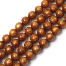 "round golden coral beads natural coral beads DIY loose beads for jewelry making strand 15"" free shipping wholesale !(China)"