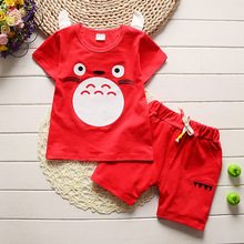 shipping new style children girl clothing sets fashion cartoon baby girls&boys sports costume shorts kids clothing set suit