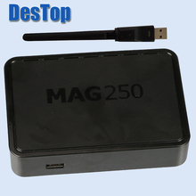 10pcs Linux System Set Top Box Mag250 R14 Version Online Update Internet Tv and USB WIFI STi7105 processor(China)
