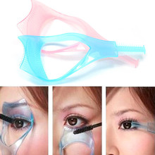 New Top Quality Women Cosmetic Triple Dimensional Crystal Eyelashes Card Portable Makeup Tool Solid Eyelash Curler(China)
