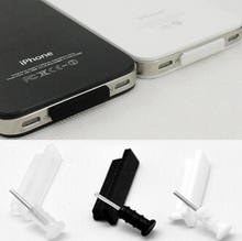 15set/lot anti dust plug for phone usb charger dock and headphone jack for iphone 4,4s USB with white and black plugs