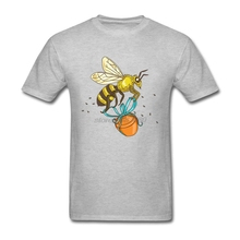 Designing Custom Work Tshirts Homem Bee Carrying Honey Pot Drawing Short Sleeve Tee Men Bee O Neck Best T Shirts