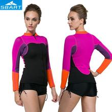 SBART 2mm Neoprene Split-type Sunscreen Jellyfish Diving Wetsuit Tops Women Beach Surf Waarm Jacket Swimwear,Anti-stab,Wearable(China)