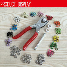 Free shipping 9.5mm  colorful 1000sets +a plier+a hand tool  brass  ring prong snap button baby snap button accessories