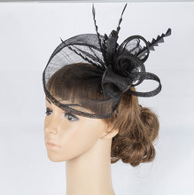 Free shipping 116 COLORS sinamay hats sinamay base with loops fascinator headwear elegant cocktail hats wedding hair accessories