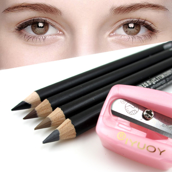 4 pcs Pro Beauté Crayon À Sourcils avec Brosse Peigne Femmes Maquillage Cosmétique Tool & 1 pcs Crayon taille-crayon