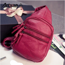2015 water washed leather women's chest pack women's handbag cross-body shoulder nappy small bag soft YB03