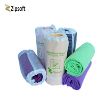 Zipsoft Brand Beach towel Wraps Microfiber 2017 Mesh Bag Fabric Sports Quick Dry Bath Travel Hike Camp Gym Pool Yoga Mat Blanket(China)