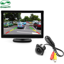 GreenYi TFT Screen 5 Inch Car Monitor With Rear View Camera , Auto Parking Assistance CCTV Video System(China)