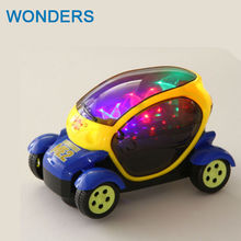 Science fiction further car model electric toy car model universal wheel 3D lighting electric toy car model Children's Toys gift(China)