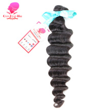 QUEEN BEAUTY HAIR Natural Curly Peruvian Virgin Hair Bundles 100% Unprocessed Curly Human Hair Weaving Natural Color
