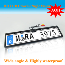 Free shipping New Universal Night Vision European License Plate Frame Car Camera,Rear view camera car reversing camera