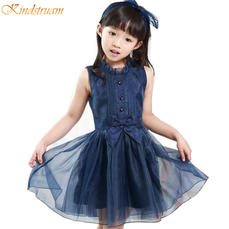 2017 New Arrival Girl Solid Mesh Princess Dresses Kids Summer Sleeveless Dress Big Girls Fashion Clothes with Bow , LC791<br><br>Aliexpress