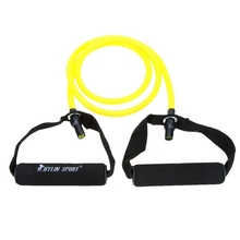 Natural Rubber Latex Fitness Resistance Tube Resistance Rope Elastic Exercise Band for Yoga Pilates Workout (Yellow(20lb))(China)