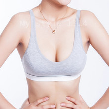 New Fashion Women 100% Cotton Bust Push Up Bra Underwear Bra 70 75 80 85 Size (32 34 36 38)(China)