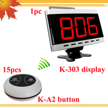 LCD Display Panel Restaurant Call Button Server Paging Systems 433 MHZ Calling System Receiver Restaurant Customer(China)