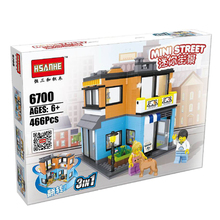 City Series Building Blocks street center CBD Architecture Beverage Pet shop Couture Billiard hall Opera compatible with legoed