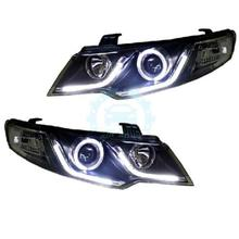 For KIA Forte Cerato 2009-2014 LED Angel Eyes LED Strip Headlights(China)