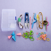 1 SET Home DIY Knitting Tools Set Crochet Hook Stitch Weave Accessories Supplied With Case Box Yarn Knit Kit(China)