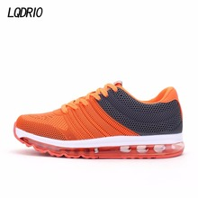 2017 air cushioning men sports athletic shoes outdoor running shoes male trainers breathable sneakers orange