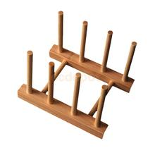 Bamboo Kitchen Holder Dish Drying Rack Home Magazine/Book Rack Small
